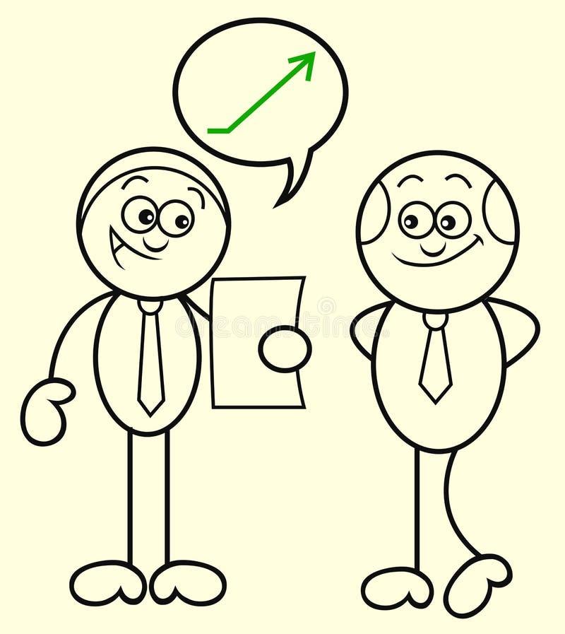 Werkgever en Werknemer royalty-vrije illustratie