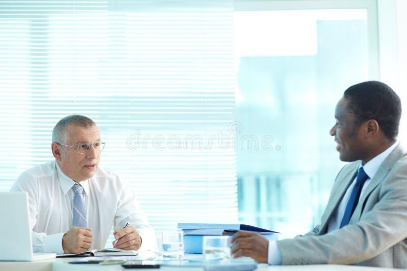 Werkgever en Werknemer royalty-vrije stock afbeeldingen