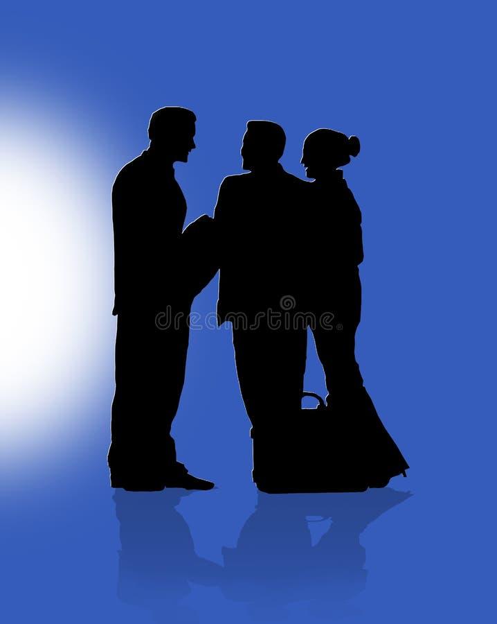Werkgever en werknemers royalty-vrije illustratie