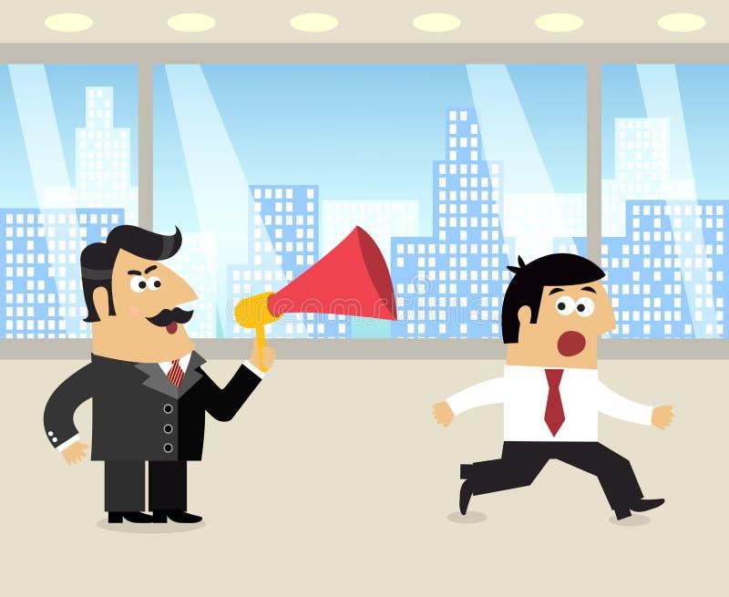 Werkgever en werknemersscène vector illustratie
