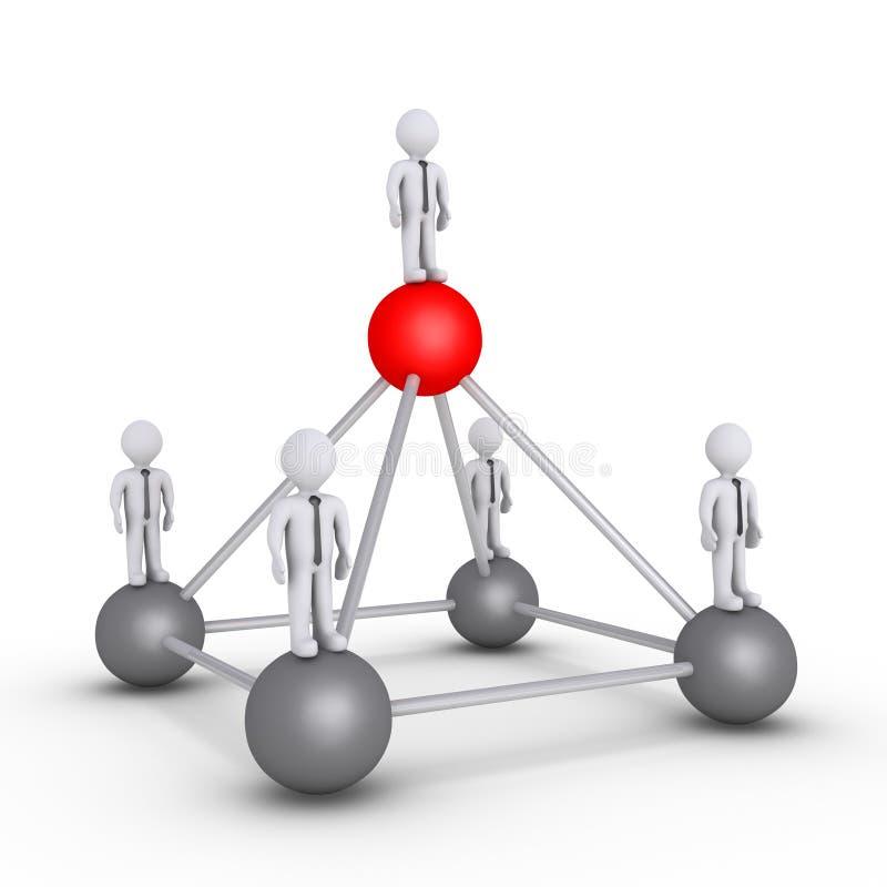 Werkgever en zakenlieden het concept van de hiërarchiemacht stock illustratie