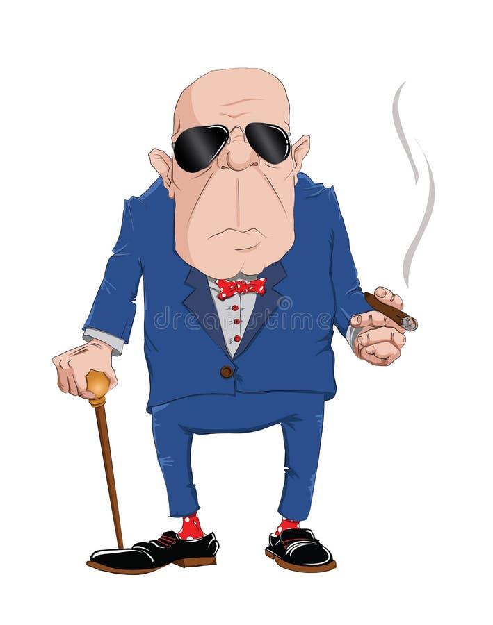 Werkgever met sigaar royalty-vrije illustratie