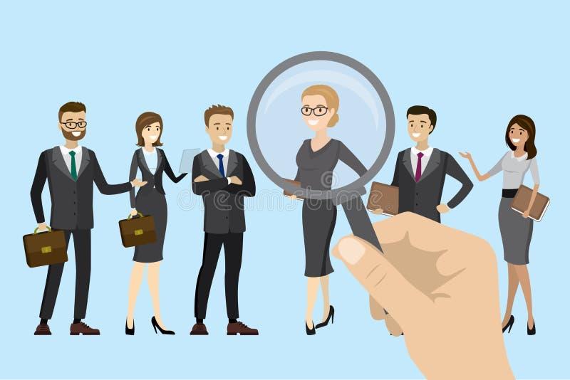 Werkgever van keus, kandidaatselectie stock illustratie
