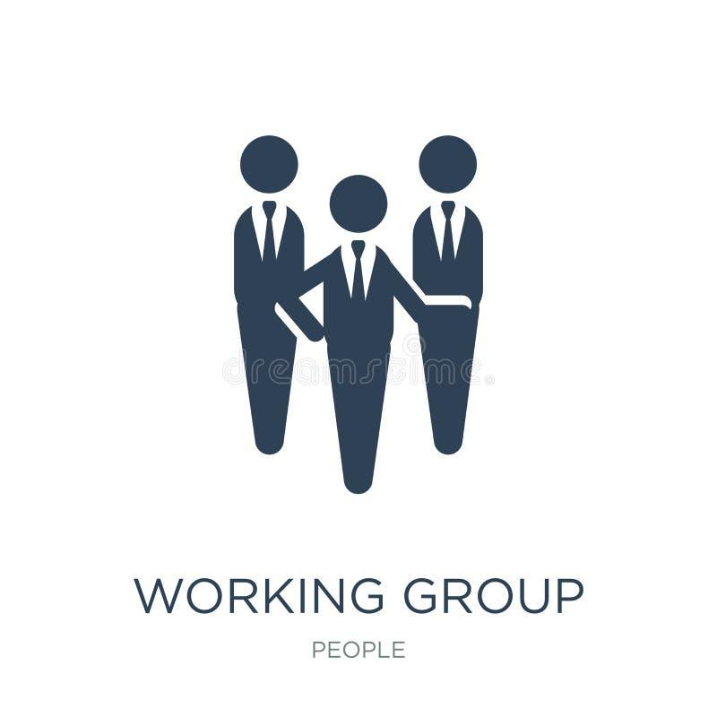 werkgroeppictogram in in ontwerpstijl werkgroeppictogram op witte achtergrond wordt geïsoleerd die eenvoudig werkgroep vectorpict royalty-vrije illustratie