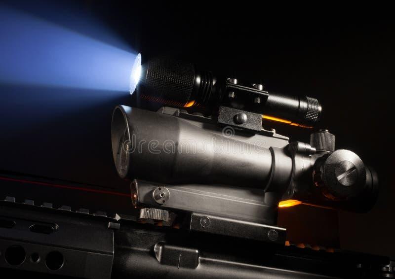 Werkingsgebied en laser stock afbeeldingen