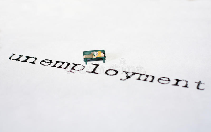Werkloosheid royalty-vrije stock foto