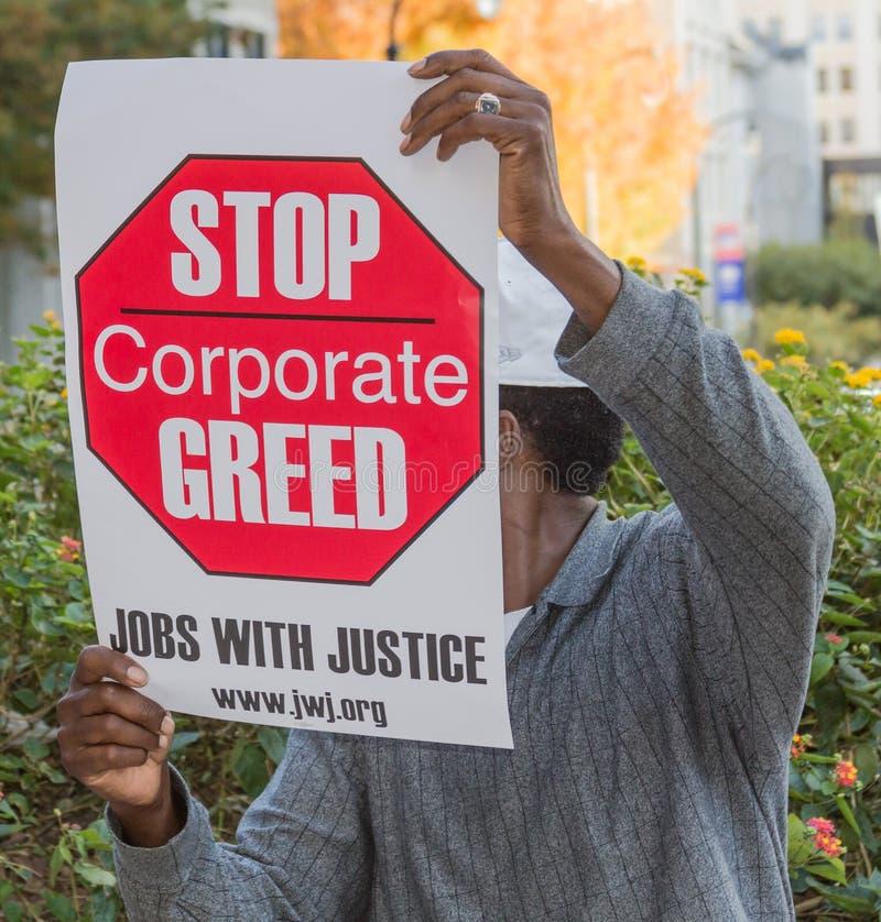Werkloosheid Protestor royalty-vrije stock fotografie