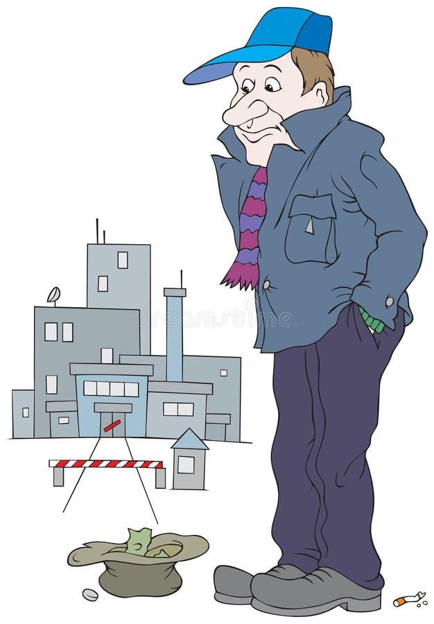 Werklozen stock illustratie