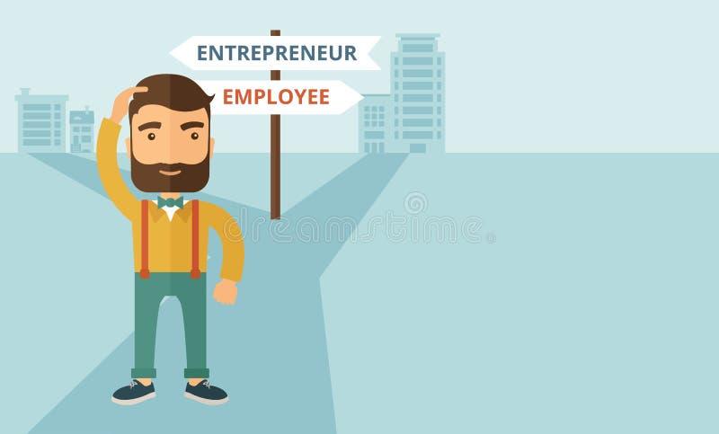 Werknemer aan ondernemer vector illustratie