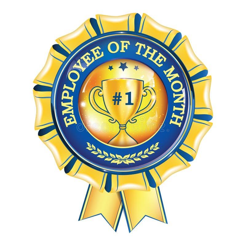 Werknemer van de maand - toekennings hangend lint royalty-vrije illustratie