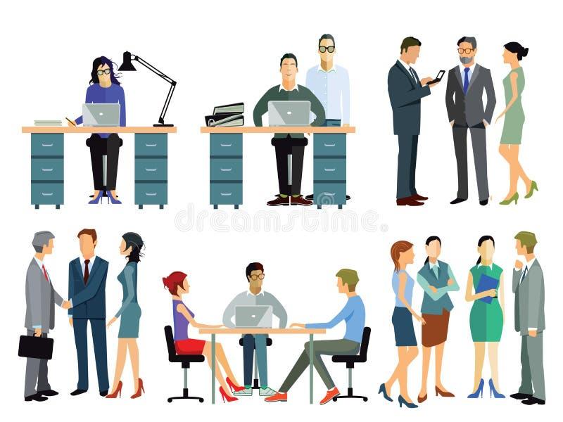 Werknemers in bureau vector illustratie