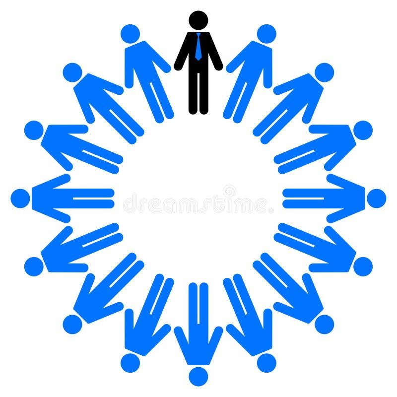 Werknemers en manager stock illustratie