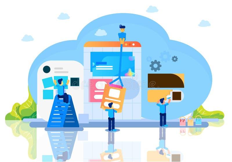Werkplaats bedrijfsbureau vectorillustratie royalty-vrije illustratie