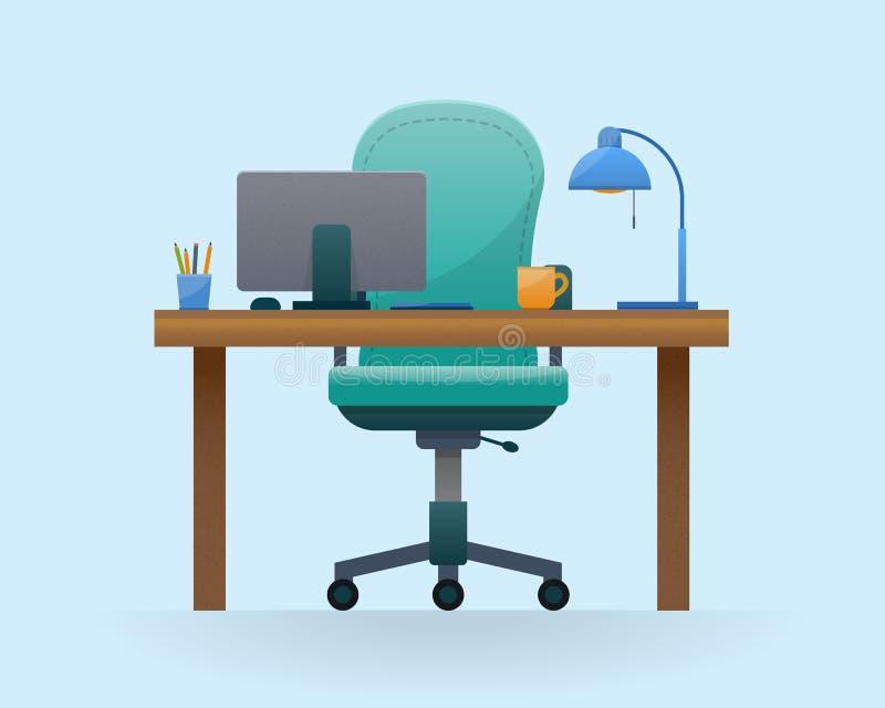 Werkplaats in bureau stock illustratie