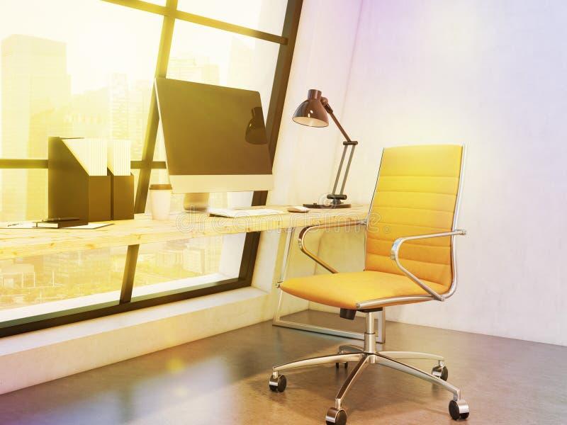 Werkplaats in het bureau stock afbeelding