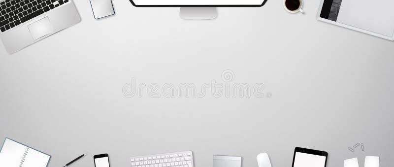 Werkplaats met technologie-apparaat stock illustratie