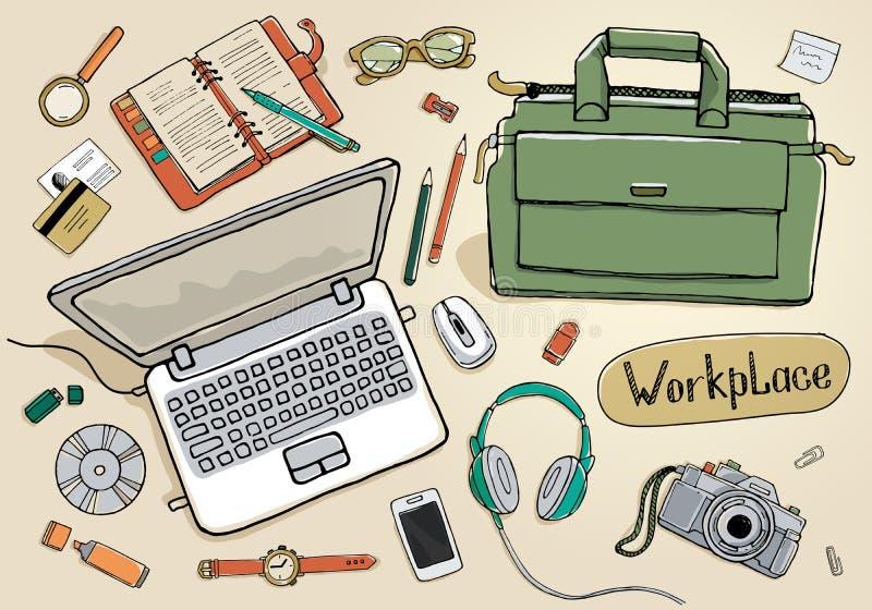 werkruimte royalty-vrije illustratie