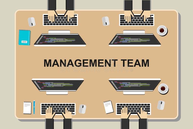 Werkruimteillustratie Het concept van de bureauwerkruimte De vlakke concepten van de ontwerpillustratie voor groepswerk, team, ve royalty-vrije illustratie