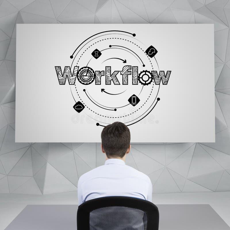 Werkschema royalty-vrije stock afbeelding
