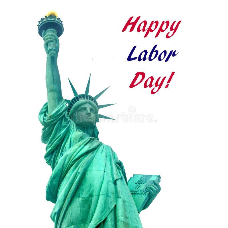 Werktag USA-Hintergrund mit Freiheitsstatuen stockbilder