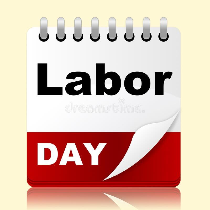 Werktag zeigt Feiertags-Amerikaner und Patriotismus stock abbildung