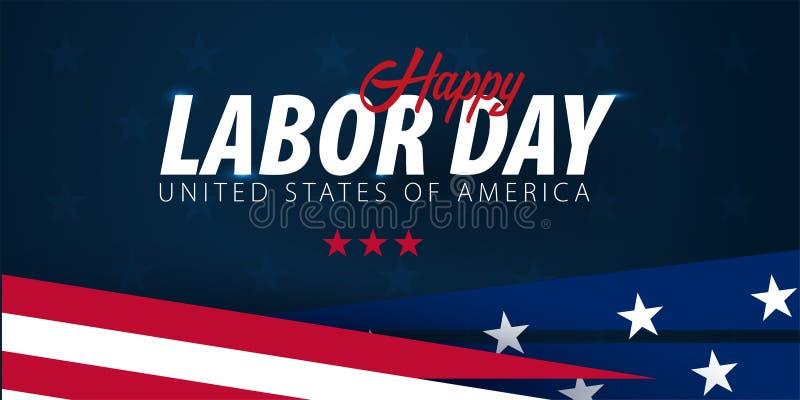 WerktagsVerkaufsförderung, Werbung, Plakat, Fahne, Schablone mit amerikanischer Flagge Amerikanische Werktagstapete Belegrabatt vektor abbildung