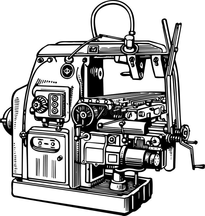 Werktuigmachine royalty-vrije illustratie