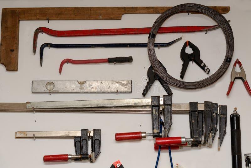 Werkzeug auf einen Blick stockbild
