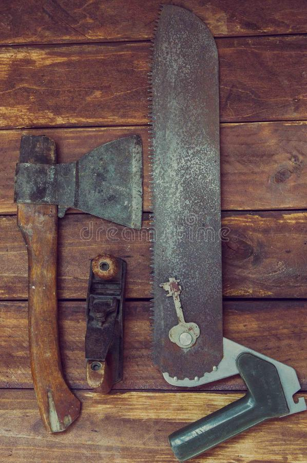 Werkzeug für die Herstellung von Gegenständen vom Holz lizenzfreie stockbilder