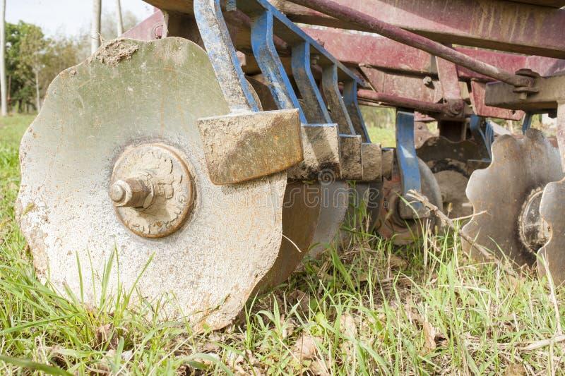 Werkzeug für die Landwirtschaft: Scheibenegge stockfotografie