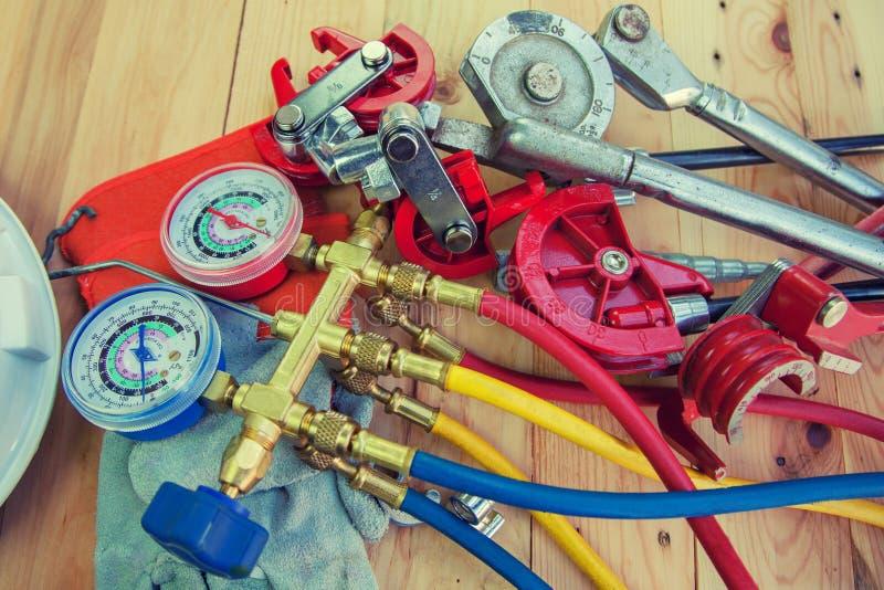 Werkzeuge für HVAC lizenzfreies stockbild