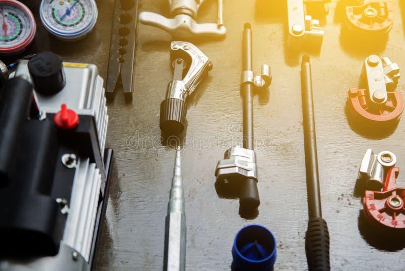 Werkzeuge für HVAC stockbilder