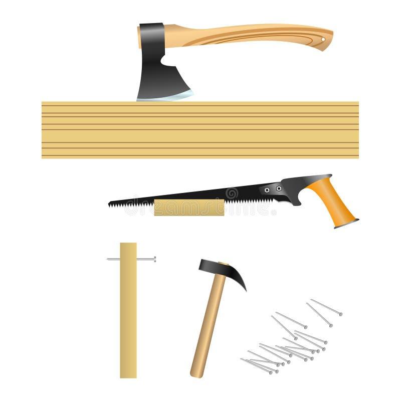 Werkzeuge für Tischler vektor abbildung