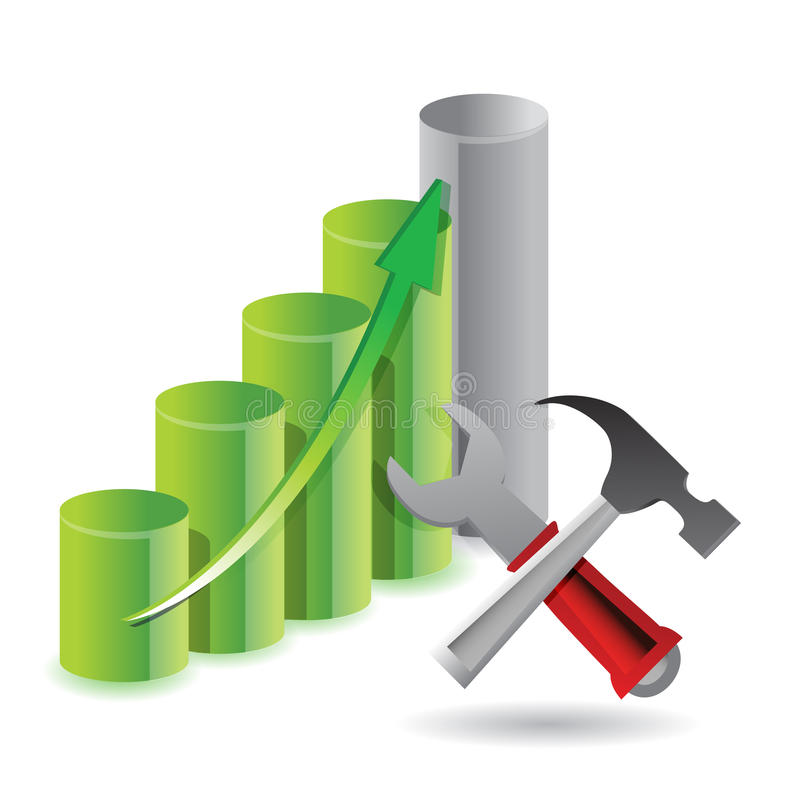 Werkzeuge zum Erfolg stock abbildung