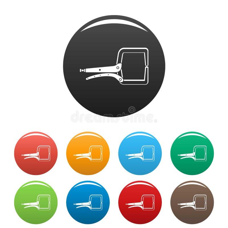 Werkzeugikonen-Satzfarbe des elektrischen Kabels lizenzfreie abbildung