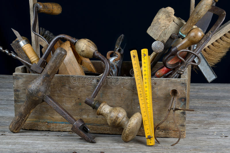 Werkzeugkasten drei lizenzfreie stockbilder