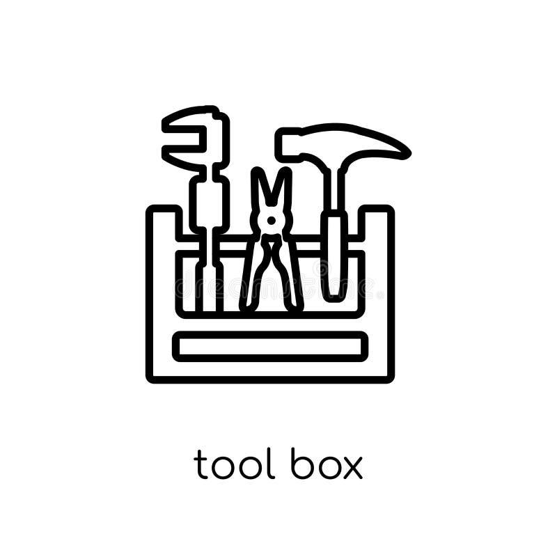 Werkzeugkastenikone  lizenzfreie abbildung