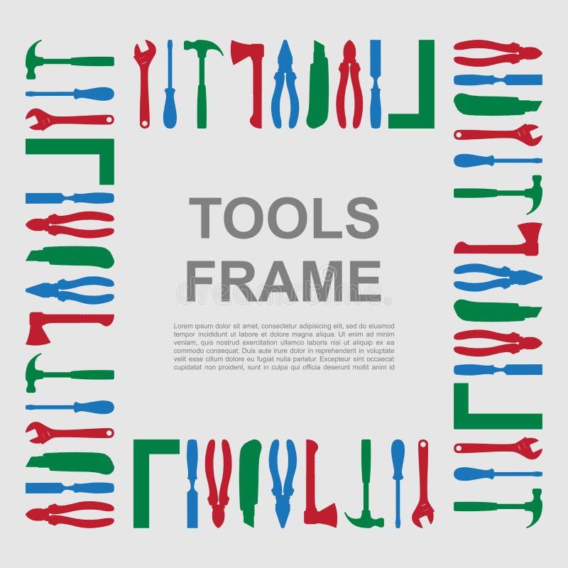 Werkzeugrahmen stock abbildung