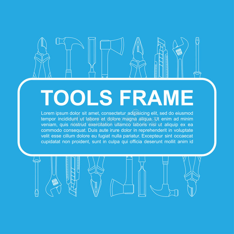 Werkzeugrahmen lizenzfreie abbildung