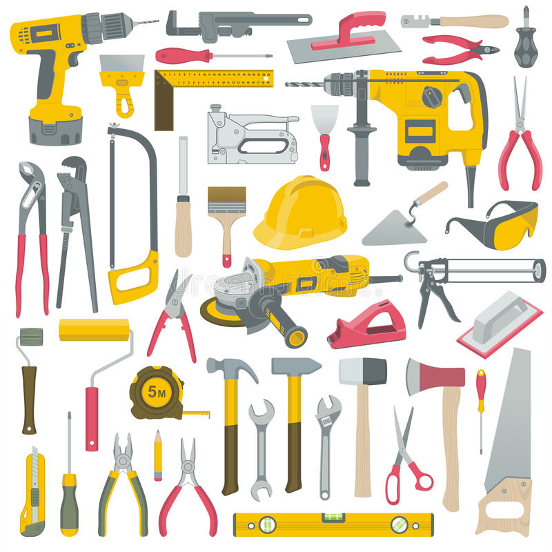 Werkzeugsatz stock abbildung