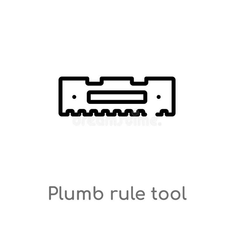 Werkzeugvektorikone der senkrechten Regel des Entwurfs lokalisiertes schwarzes einfaches Linienelementillustration vom Baukonzept vektor abbildung