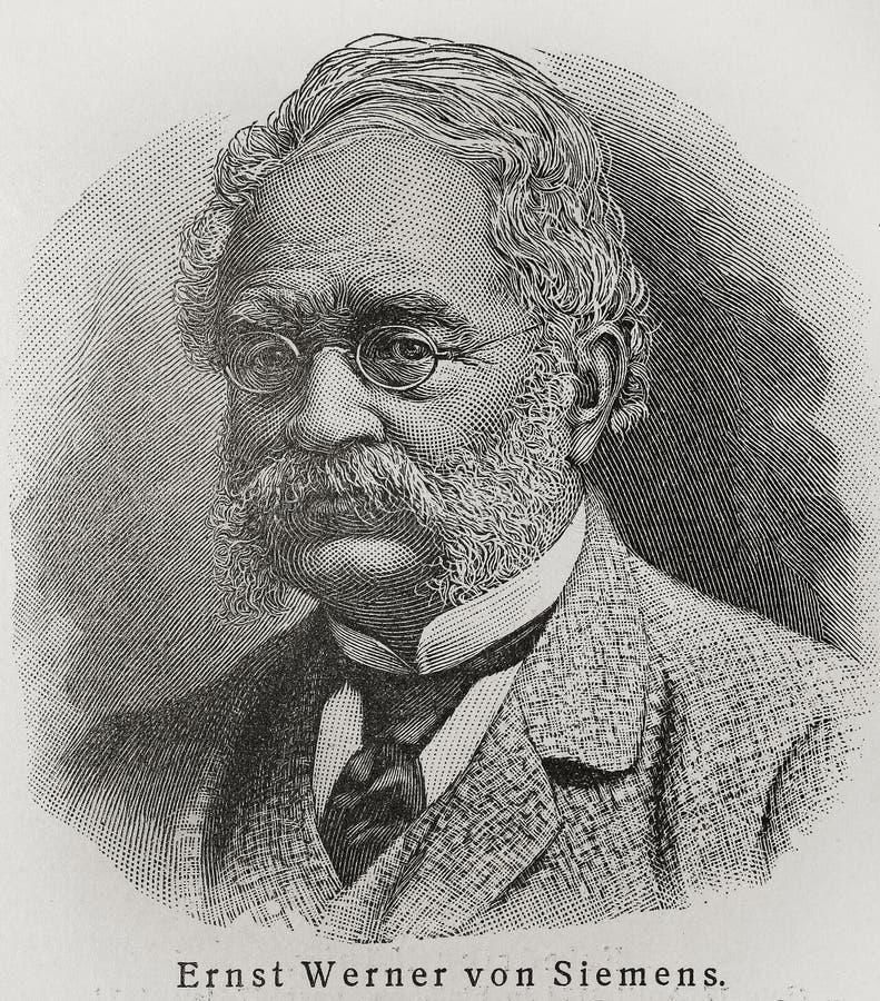 Werner von Siemens royalty-vrije illustratie