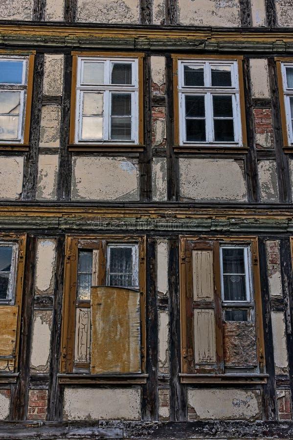 Wernigerode - façade de cadre - I - photos stock