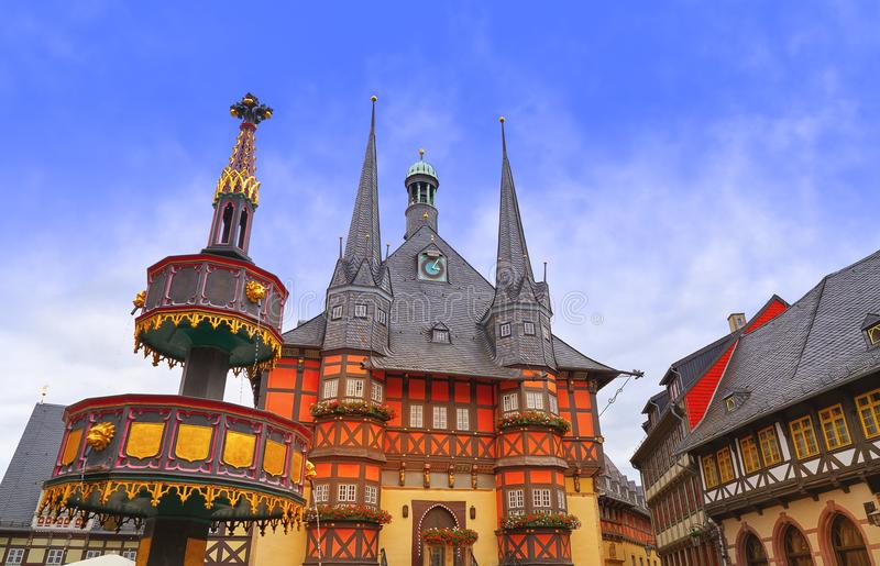 Wernigerode Rathaus Stadt city hall Harz Germany royalty free stock image
