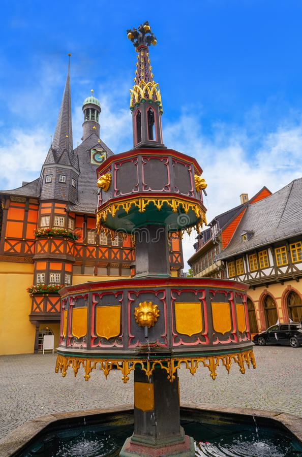 Wernigerode Rathaus Stadt city hall Harz Germany. Wernigerode Rathaus Stadt city hall in Harz Germany stock photography