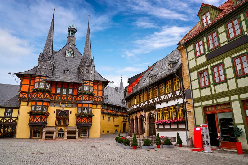 Wernigerode Rathaus Stadt city hall Harz Germany. Wernigerode Rathaus Stadt city hall in Harz Germany royalty free stock photography