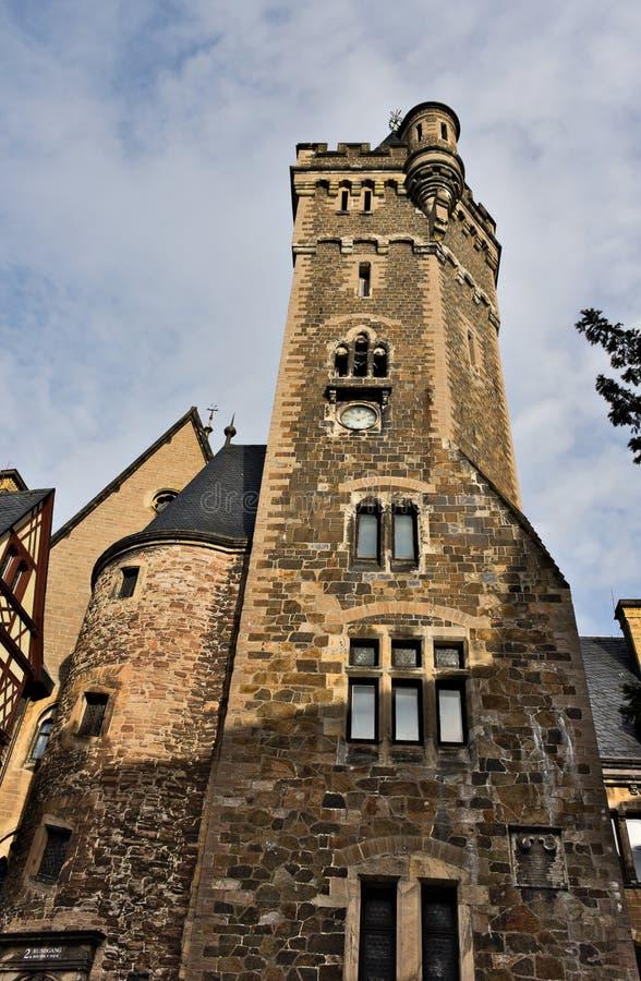 Wernigerode - slott - I - royaltyfri fotografi