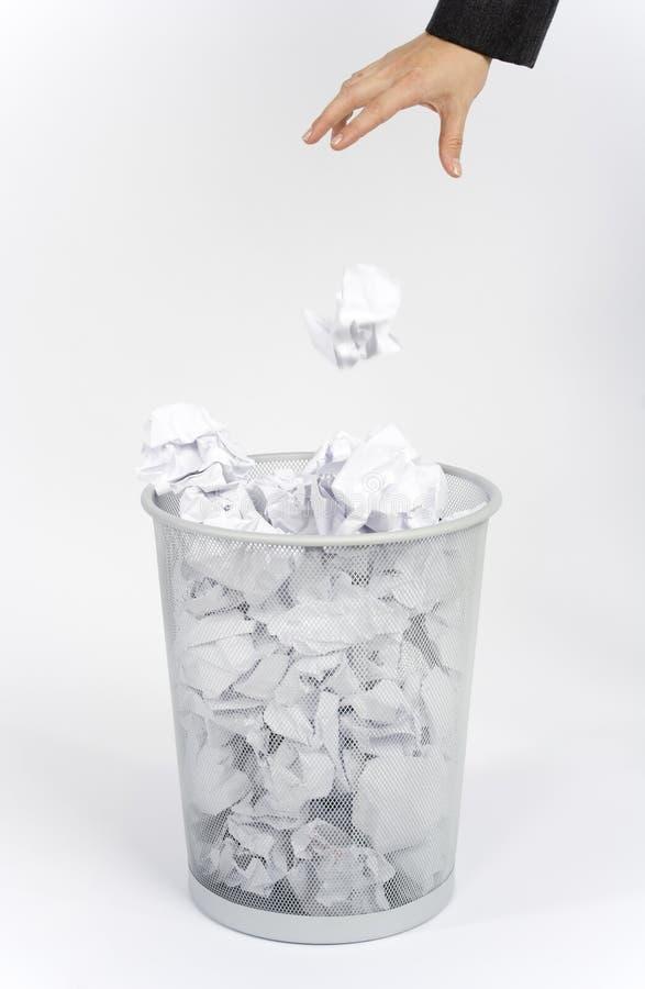 Werp vuilnis royalty-vrije stock foto