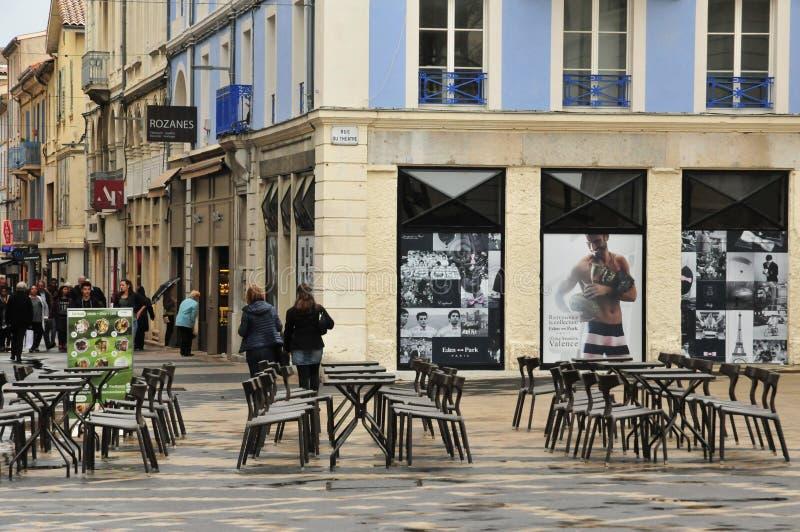 Wertigkeit, Frankreich - 13. April 2016: die malerische Stadt lizenzfreies stockbild