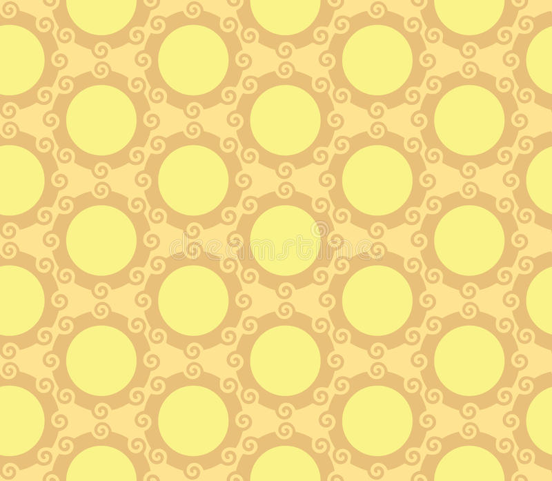 Wervelende Cirkelsorb Naadloze Patroonachtergrond stock illustratie